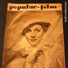 Cine: REVISTA POPULAR FILM MARZO 1934 GLORIA STUART.MAE WEST EL TESTAMENTO DEL DR MABUSE FRITZ LANG SKIMO. Lote 184771021