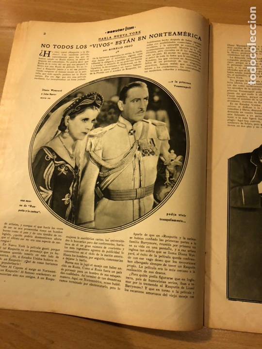 Cine: Revista popular film abril 1934 Toby wing Kay Francis John barrymore - Foto 4 - 184771267