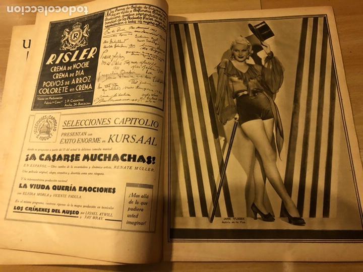 Cine: Revista popular film enero 1934 cena a las 8 Jean harlow.john barrymore walt disney - Foto 3 - 184771611