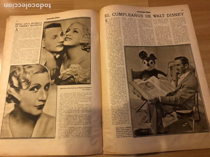 Cine: Revista popular film enero 1934 cena a las 8 Jean harlow.john barrymore walt disney - Foto 5 - 184771611