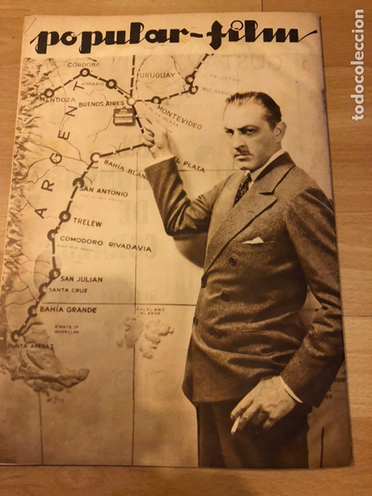 Cine: Revista popular film enero 1934 cena a las 8 Jean harlow.john barrymore walt disney - Foto 6 - 184771611