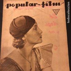 Cine: REVISTA POPULAR FILM ENERO 1934 CENA A LAS 8 JEAN HARLOW.JOHN BARRYMORE WALT DISNEY. Lote 184771611