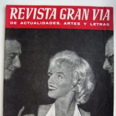Cine: MARILYN MONROE. BRIGITTE BARDOT. REVISTA GRAN VIA 1960.. Lote 184808622