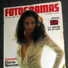 Cine: REVISTA FOTOGRAMAS Nº1515 OCTUBRE 1977 ANTIGUA - REPORTAJE PUNK ROCK SEX PISTOLS RAMONES - NEWMAN. Lote 184931805