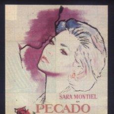 Cine: P-8497- PECADO DE AMOR (RECORTE DE PRENSA 9 X 13) SARA MONTIEL - REGINALD KERNAN - RAFAEL ALONSO. Lote 185046408
