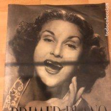 Cine: REVISTA PRIMER PLANO ENERO 1941 ANA MARISCAL.MARY CARRILLO.VIVIEN LEIGH CELIA GAMEZ ROBERT TAYLOR. Lote 185546318
