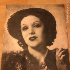 Cine: REVISTA PRIMER PLANO NOVIEMBRE 1941 ROSITA MORENO.JAMES STEWART HEDY LAMARR GRETA GARBO ILONA MASSEY. Lote 185601421