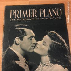 Cinema: REVISTA PRIMER PLANO ENERO 1942 KATHARINE HEPBURN GARY GRANT.JOSE LUIS SAENZ DE HEREDIA.LUCHY SOTO. Lote 185604661