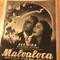 Cine: REVISTA PRIMER PLANO SEPTIEMBRE 1942 MARÍA DE TASNADY.AMPARO RIVELLES MALVALOCA. Lote 185608451