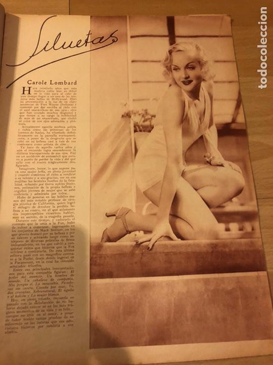 Cine: Revista popular film agosto 1934.jean harlow Joan blondell carole lombard Douglas fairbanks - Foto 3 - 185637437