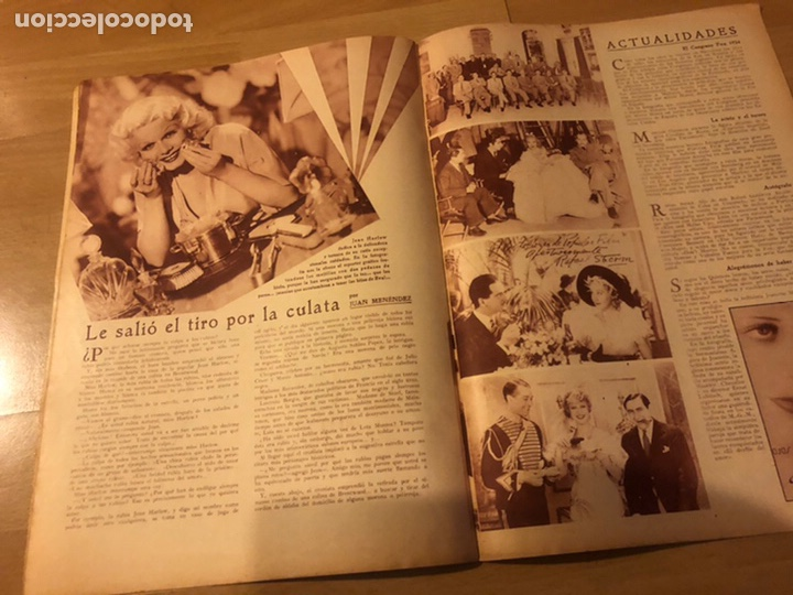 Cine: Revista popular film agosto 1934.jean harlow Joan blondell carole lombard Douglas fairbanks - Foto 7 - 185637437