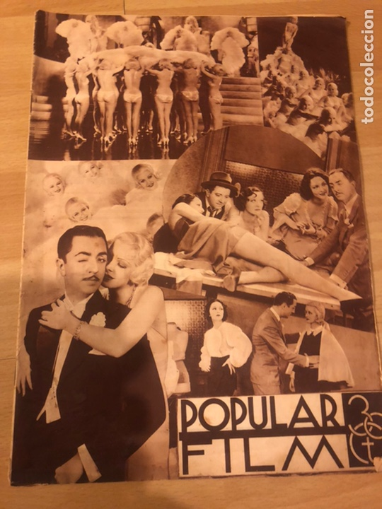 REVISTA POPULAR FILM AGOSTO 1934.JEAN HARLOW JOAN BLONDELL CAROLE LOMBARD DOUGLAS FAIRBANKS (Cine - Revistas - Popular film)