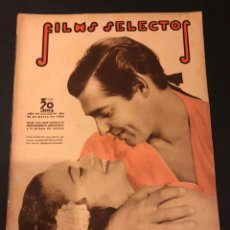 Cine: REVISTA FILMS SELECTOS MARZO 1936 CLARK GABLE.MARLENE DIETRICH JAMES CAGNEY SHIRLEY TEMPLE. Lote 185729153