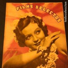 Cine: REVISTA FILMS SELECTOS MARZO 1936 NANCY CARROLL HAROLD LLOYD ELISSA LANDI DOLORES DEL RÍO. Lote 185730786
