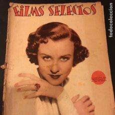 Cine: REVISTA FILMS SELECTOS FEBRERO 1936 MARGARET LINDSAY.ANGELILLO.JOAN CRAWFORD.EL CURA DE LA ALDEA. Lote 185738736
