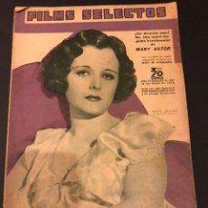 Cine: REVISTA FILMS SELECTOS MAYO 1935 MARY ASTOR.WALT DISNEY BING CROSBY HELEN MACK. Lote 185739522