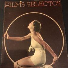 Cine: REVISTA FILMS SELECTOS FEBRERO 1936 KAY SUTTON.MARLENE DIETRICH.MIGUEL FLETA PETER LORRE. Lote 185741358