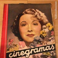 Cine: REVISTA CINEGRAMAS 7 OCTUBRE 1934.HAROLD LLOYD.ANNA MAY WONG JOAN CRAWFORD. Lote 185749351