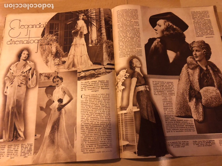 Cine: Revista cinegramas 54 septiembre 1935 carole lombard.mickey mouse.francés dee claudette colbert - Foto 8 - 185749730