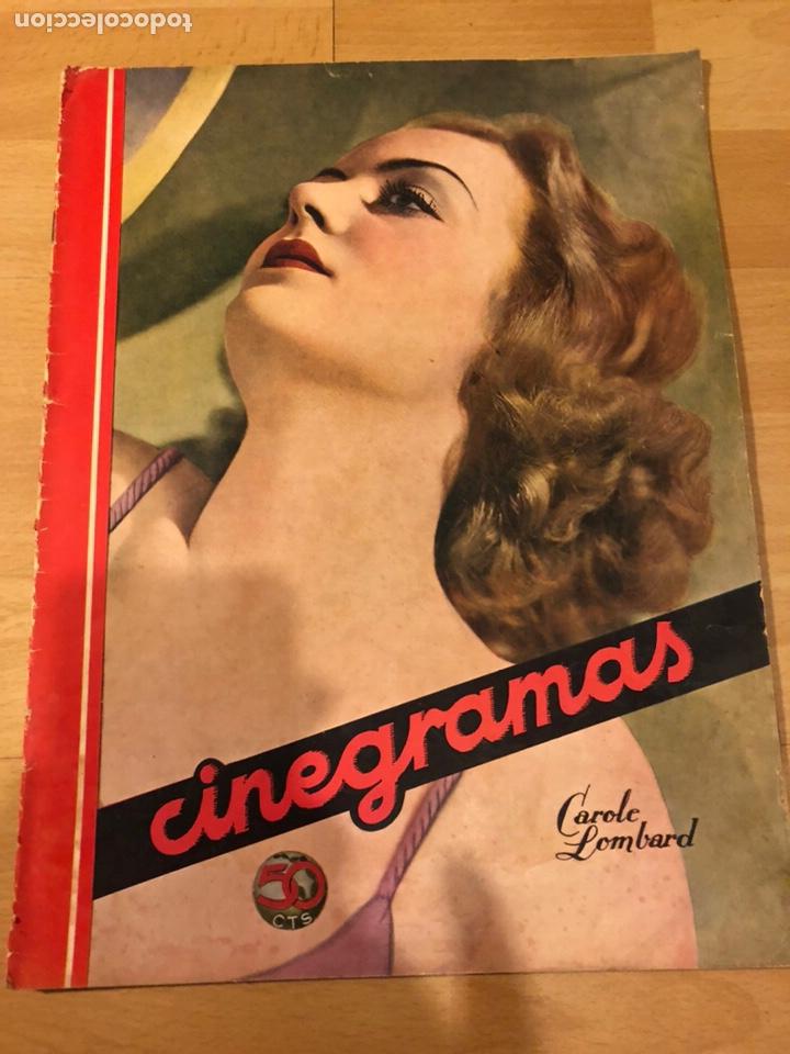 REVISTA CINEGRAMAS 54 SEPTIEMBRE 1935 CAROLE LOMBARD.MICKEY MOUSE.FRANCÉS DEE CLAUDETTE COLBERT (Cine - Revistas - Cinegramas)