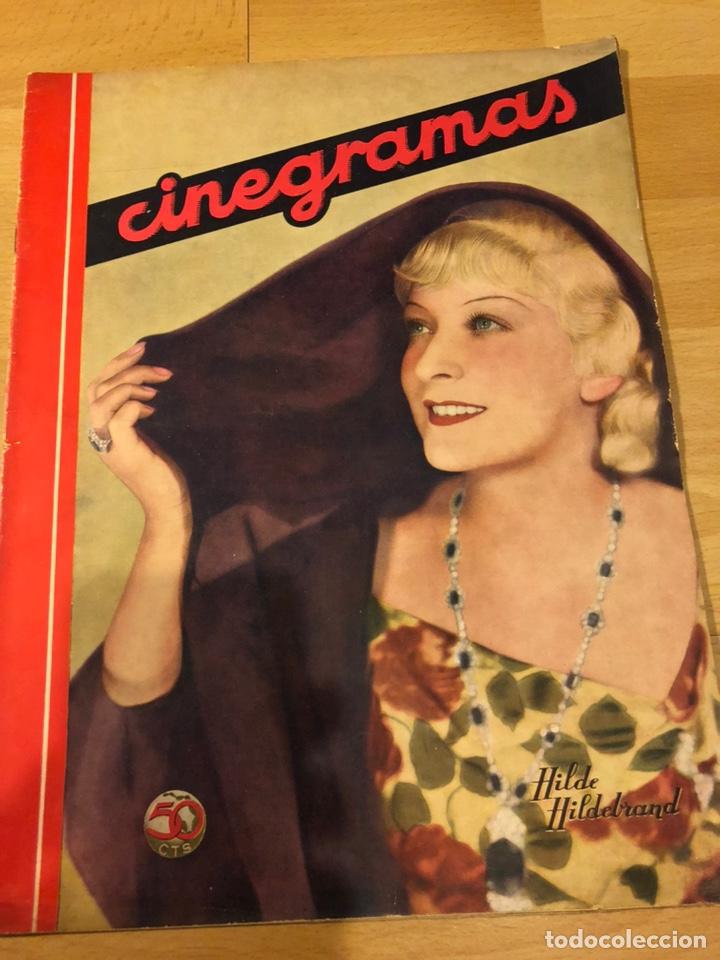 REVISTA CINEGRAMAS 61 NOVIEMBRE 1935 HILDE HILDEBRAND.JOAN CRAWFORD CLARK GABLE LOUISE RAINER (Cine - Revistas - Cinegramas)