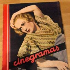 Cine: REVISTA CINEGRAMAS 53.SEPTIEMBRE 1935.MIRIAM HOPKINS.MYRNA LOY WILLIAM POWELL KATHARINE HEPBURN. Lote 185750251