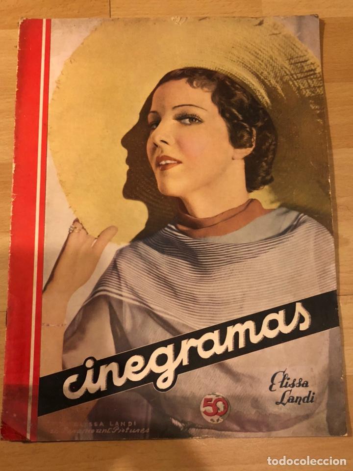 REVISTA CINEGRAMAS 44.JULIO 1935 ELISSA LANDI.NOBLEZA BATURRA IMPERIO ARGENTINA.BENITO PEROJO. (Cine - Revistas - Cinegramas)