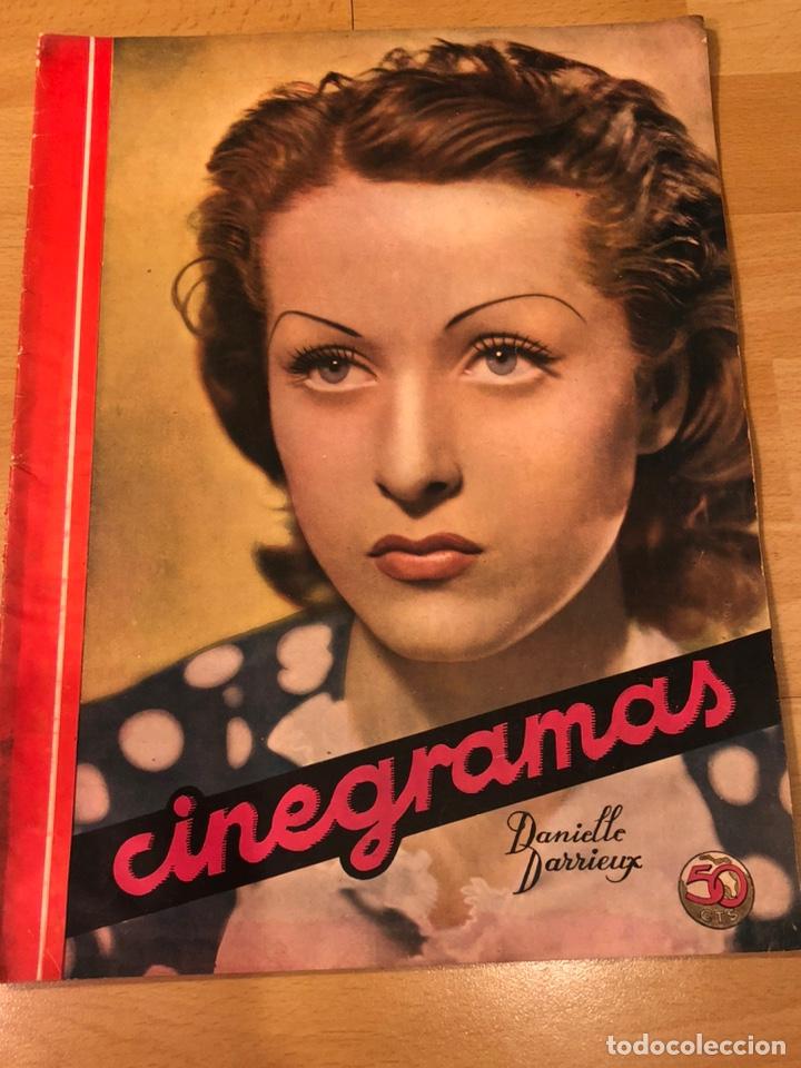 REVISTA CINEGRAMAS 69 ENERO 1936 DANIELLE DARRIEUX.MARLENE DIETRICH GRETA GARBO.LA VERBENA DE PALOMA (Cine - Revistas - Cinegramas)