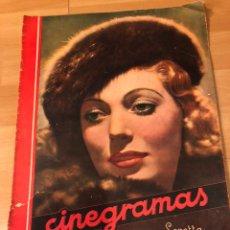 Cine: REVISTA CINEGRAMAS 17 ENERO 1935.LORETTA YOUNG.BARBARA STANWYCK. Lote 185751368