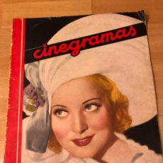 Cinéma: REVISTA CINEGRAMAS 20 ENERO 1935 PAT PATERSON.JOAN CRAWFORD.MARLENE DIETRICH.CECIL B DE MILLE. Lote 185751682