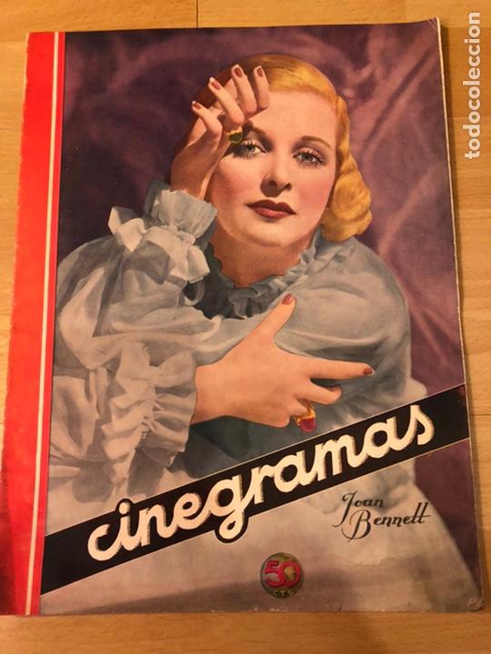 REVISTA CINEGRAMAS 59 OCTUBRE 1935 JOAN BENNETT EMIL JANNINGS CLAUDETTE COLBERT BUSTER KEATON (Cine - Revistas - Cinegramas)