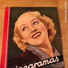Cine: REVISTA CINEGRAMAS 56.OCTUBRE 1935 BETTY GRABLE.DOLORES DEL RÍO.MARLENE DIETRICH IMPERIO ARGENTINA. Lote 185753753