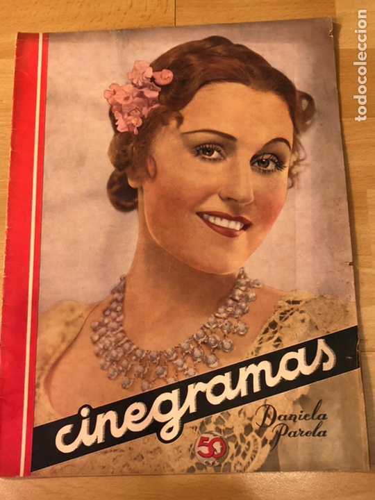 REVISTA CINEGRAMAS 63 NOVIEMBRE 1935 DANIELA PAROLA.GRETA GARBO ANGELILLO LA VERBENA DE LA PALOMA (Cine - Revistas - Cinegramas)
