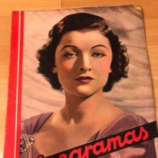 Cine: REVISTA CINEGRAMAS 78 MARZO 1936 MYRNA LOY.JOAN CRAWFORD BORIS KARLOFF LA MOMIA FRANKENSTEIN. Lote 185754815