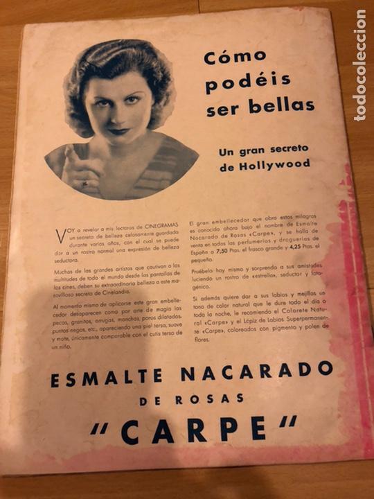 Cine: Revista cinegramas 71 enero 1936 Grace moore.marlene Dietrich paul Muni myrna loy - Foto 9 - 185755316