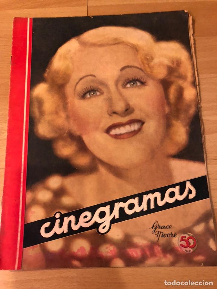 REVISTA CINEGRAMAS 71 ENERO 1936 GRACE MOORE.MARLENE DIETRICH PAUL MUNI MYRNA LOY (Cine - Revistas - Cinegramas)