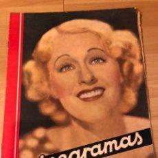 Cine: REVISTA CINEGRAMAS 71 ENERO 1936 GRACE MOORE.MARLENE DIETRICH PAUL MUNI MYRNA LOY. Lote 185755316