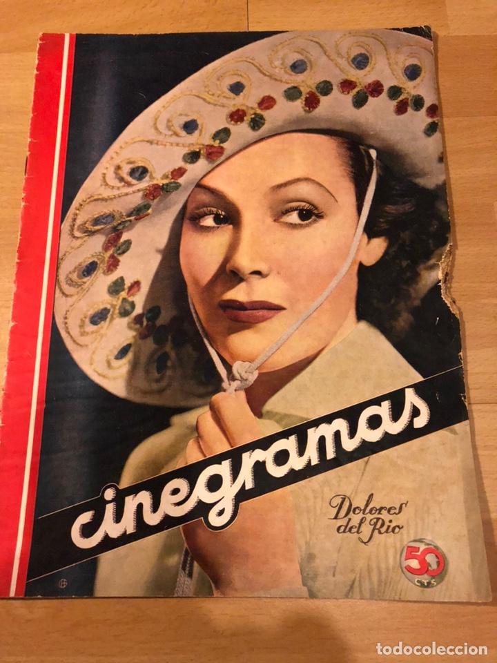 REVISTA CINEGRAMAS 51 SEPTIEMBRE 1935 DOLORES DEL RÍO.BORIS KARLOFF ERICH VON STROHEIM LON CHANEY (Cine - Revistas - Cinegramas)