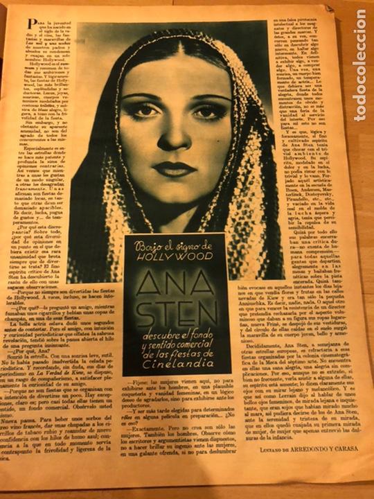 Cine: Revista cinegramas 88 mayo 1936 annabella.anna sten carole lombard - Foto 2 - 185755546