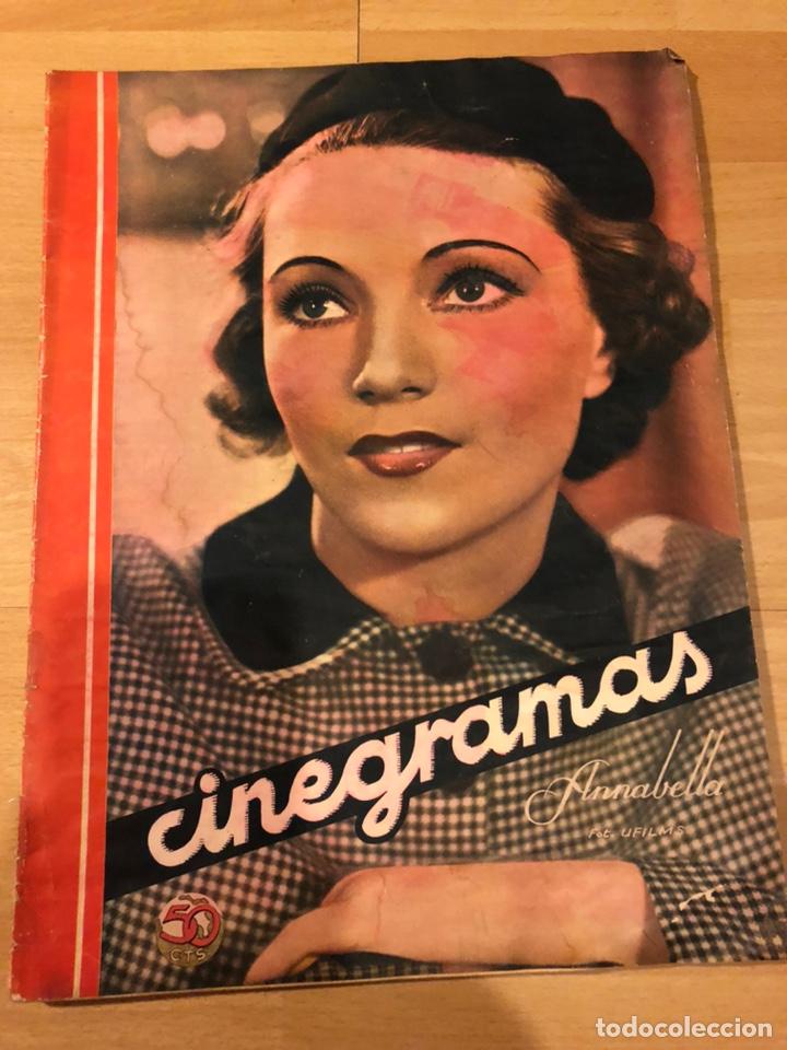 REVISTA CINEGRAMAS 88 MAYO 1936 ANNABELLA.ANNA STEN CAROLE LOMBARD (Cine - Revistas - Cinegramas)