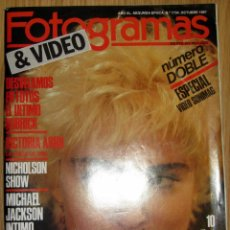 Cine: FOTOGRAMAS Nº 1734 OCT 1987 MADONNA VICTORIAL ABRIL MICHAEL JACKSON 242 PAGINAS. Lote 185933455