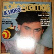 Cine: REVISTA FOTOGRAMAS Nº 1746 AÑO 1988 MICHAEL JACKSON HISTORIA AVA GARDNER MARIBEL VERDU ROB LOWE.... Lote 185933558
