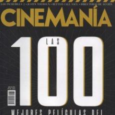 Cine: CINEMANIA N. 275 AGOSTO 2018 - EN PORTADA: LAS 100 MEJORES PELICULAS DEL SIGLO XXI (NUEVA). Lote 186144978