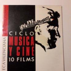 Cine: FILMOTECA VALENCIANA. CICLO MÚSICA Y CINE 1985. PINK FLOYD, THE BEATLES,. Lote 186181930