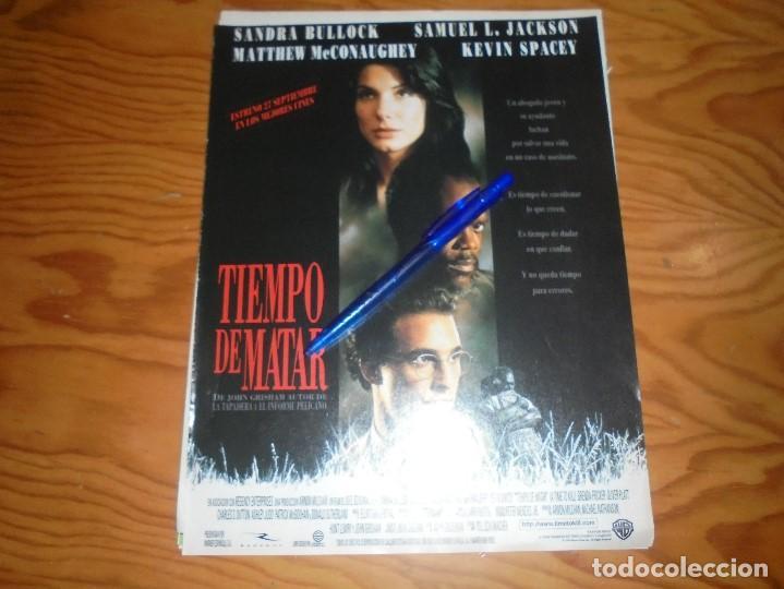 RECORTE : PUBLICIDAD DE LA PELICULA : TIEMPO DE MATAR : SANDRA BULLOCK. CINEMANIA, SEPTMBRE 1996 (Cine - Revistas - Cinemanía)