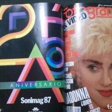 Cine: TOMO-FOTOGRAMAS-AÑO 1987 COMPLETO-11 REVISTAS ENCUADERNADAS-MADONNA. Lote 186249266