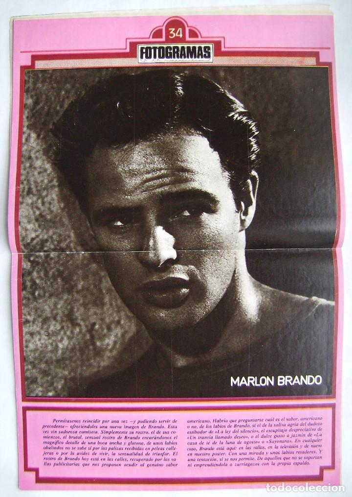Cine: MARLON BRANDO. REVISTA FOTOGRAMAS 1979. - Foto 3 - 186285215