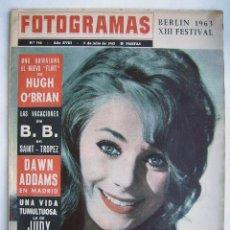 Cine: BRIGITTE BARDOT. JUDY GARLAND. VIRNA LISI. LUCHINO VISCONTI. REVISTA FOTOGRAMAS 1963.. Lote 186285692