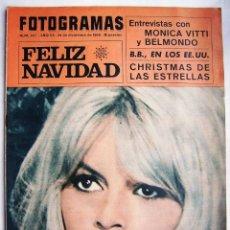 Cine: BRIGITTE BARDOT. JEAN PAUL BELMONDO. FIRMA DE ARTISTAS ESPAÑOLES. REVISTA FOTOGRAMAS 1965.. Lote 186287130