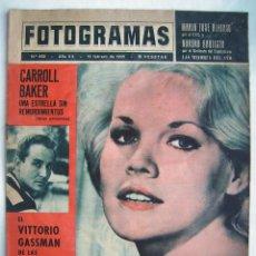 Cine: VITTORIO GASSMAN. CARROLL BAKER. AURORA BAUTISTA. REVISTA FOTOGRAMAS 1965.. Lote 186289620